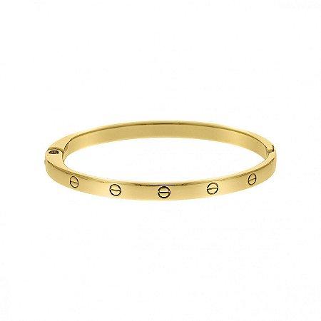 Bracelete Réplica Cartier Dourada