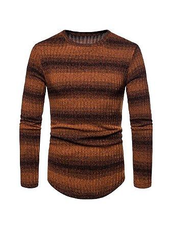 Blusa suéter tricot canelada masculino