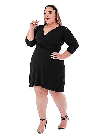 Vestido Juliana plus size malha com forro