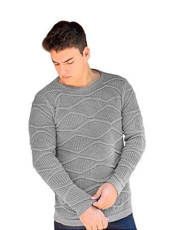 Blusa suéter tricot masculino