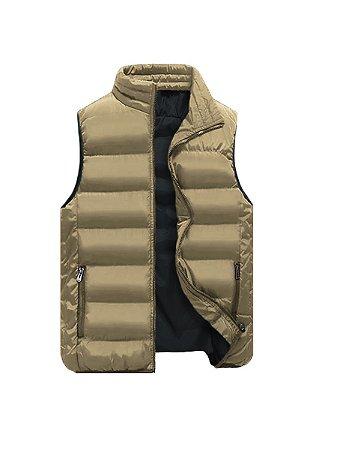 Blusa frio colete masculino nylon acolchoado