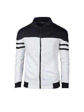 Jaqueta moletom esportiva slim masculina