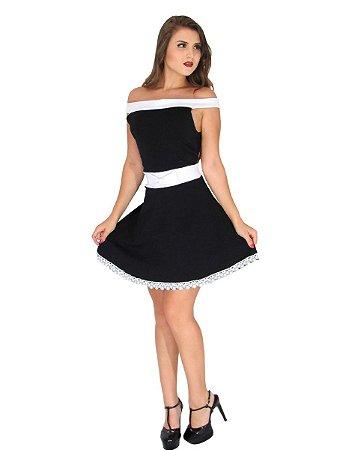 Vestido curto feminino de laço princesa festa bojo
