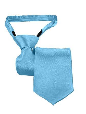 Gravata slim fit com zíper e laço pronto