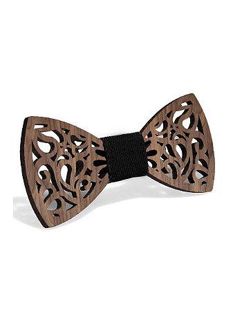 Gravata borboleta de madeira - exclusivo no Brasil