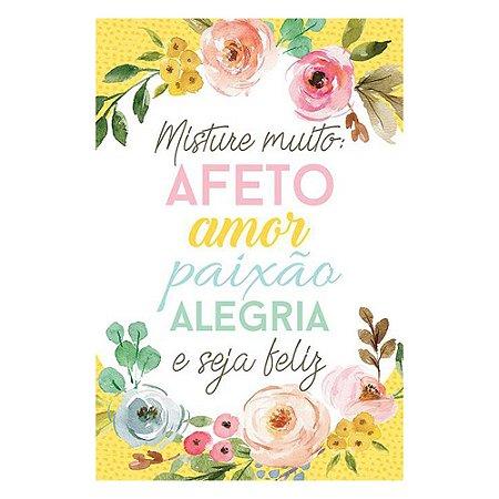 Placa Misture muito: afeto, amor, paixão, alegria e seja feliz