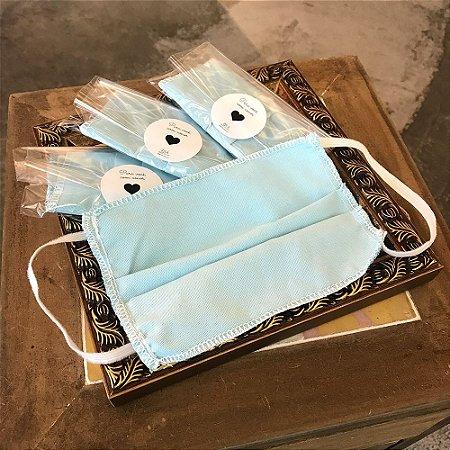 Máscara Tecido Azul 1 unidade