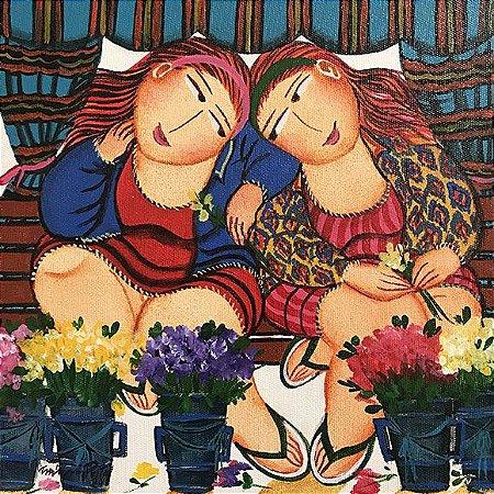 Tela Vendedoras de Flores - Miriam Postal