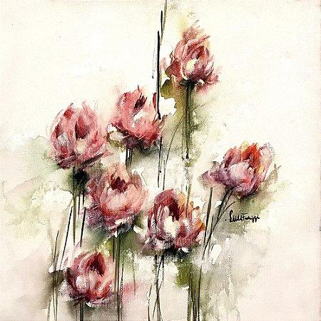 Tela Botões de Rosa I - Luiza Matilde