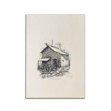 Litogravura Galpão Garibaldina - Anastácio Orlikowski