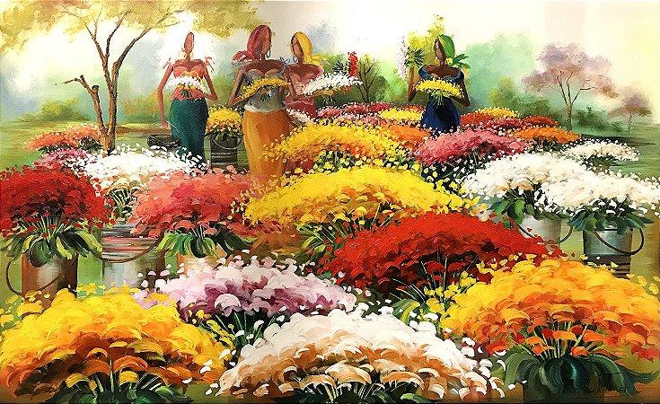 Tela Harmonia das Flores - Rosane Theisen