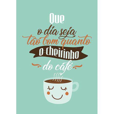 Placa Cheirinho de Café