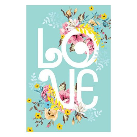Placa Love Floral
