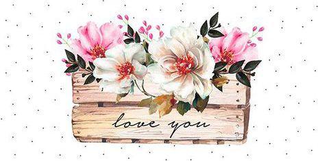 Placa Love You 15x30cm - Hugart