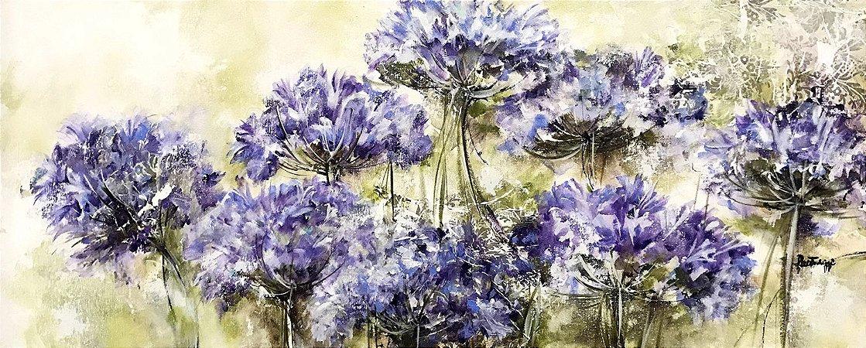 Tela Flores da Minha Infância - Luiza Matilde