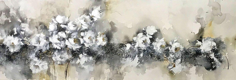 Tela Rosas ao Luar - Luiza Matilde