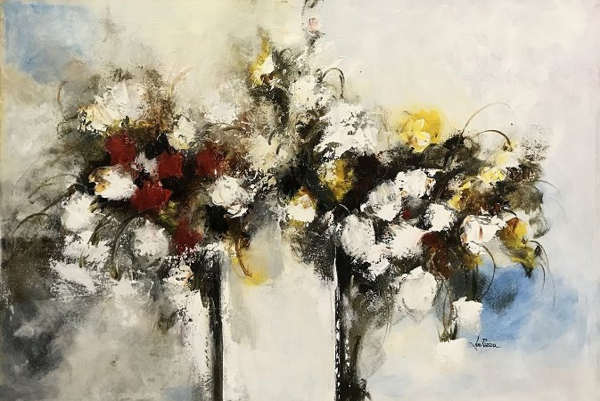 Tela Flores da Alegria  - Lourdes Pozza