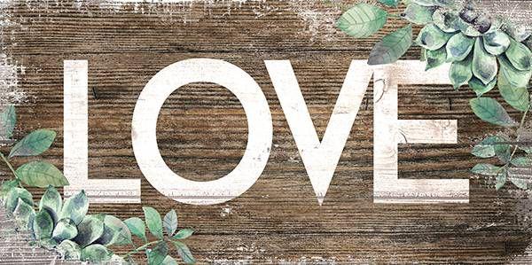 Placa Love Rústico