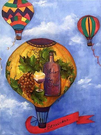 Tela Balonismo na Vindima - Luiza Matilde