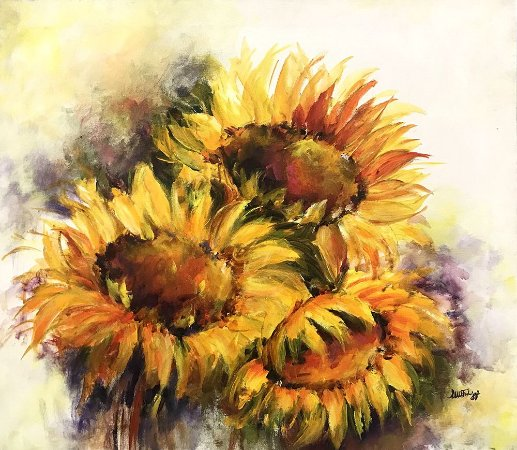 Tela Rei das Flores - Luiza Matilde