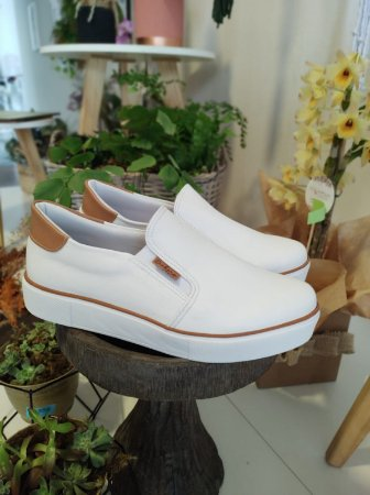Tênis Slip Branco Débora Shoes