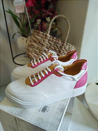 Tênis Casual Pink e Amarelo