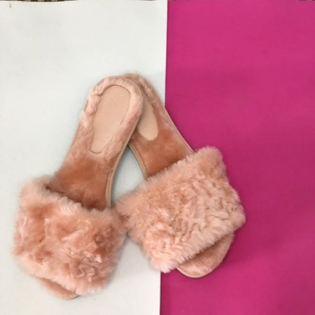 Fluffy Rosê com Lantejoulas