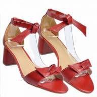 Sandália Laço e Amarração Vermelho