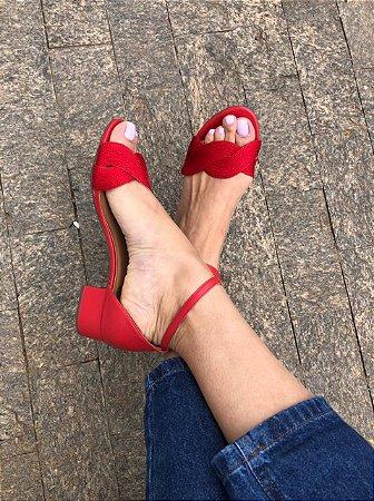 Sandália Paixão Vermelha