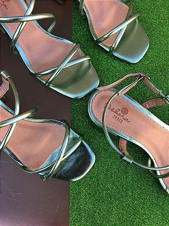 Sandália Metalizada Menta