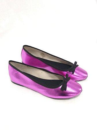 Sapatilha Bailarina Bico Redondo Pink