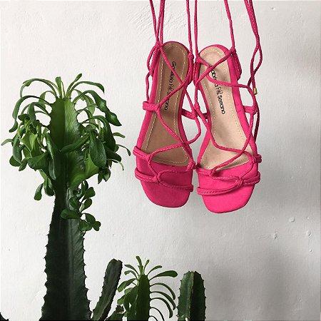 Rasteira Amarração Pink
