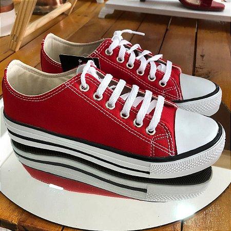 Tênis Casual Vermelho