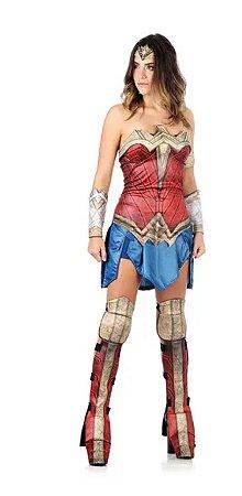Fantasia Mulher Maravilha Adulto - Liga da Justiça