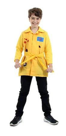 Fantasia DPA Infantil Pop Amarelo - Bento. Detetives do Prédio Azul