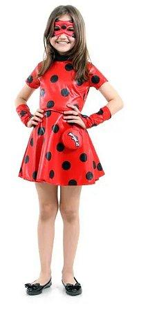 Fantasia LadyBug Infantil Vestido - Miraculous
