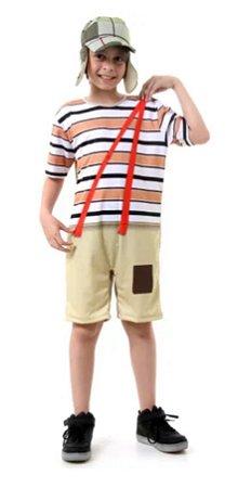 Fantasia Chaves Infantil Curto