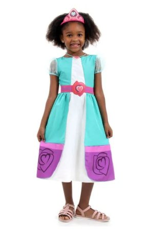 Fantasia Nella Princesa Infantil Luxo - Uma Princesa Corajosa