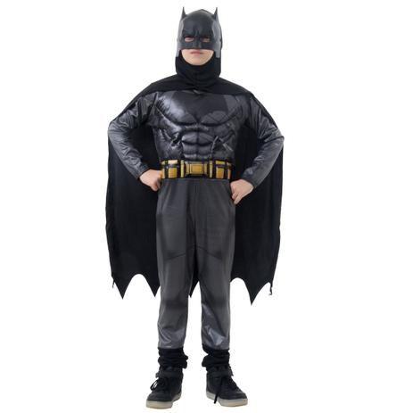 Fantasia Batman Infantil Luxo - Liga da Justiça