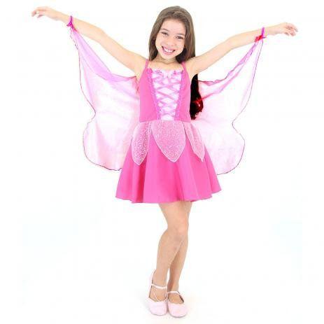Fantasia Borboleta Infantil Pink