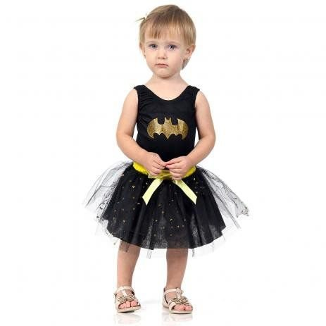 Fantasia Mulher Batgirl Bebê - Dress Up
