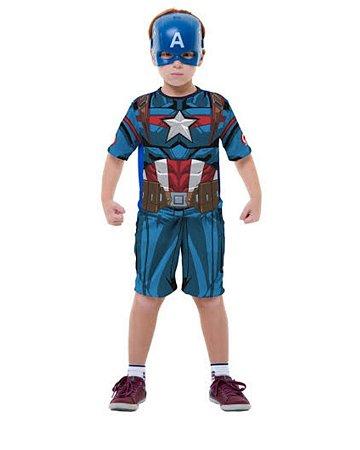 Fantasia capitão América curto