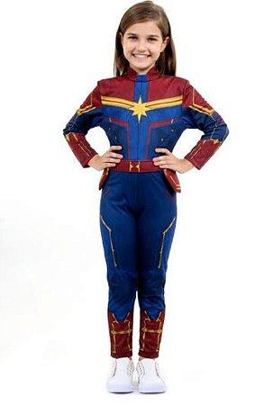 Fantasia Capitã Marvel Infantil