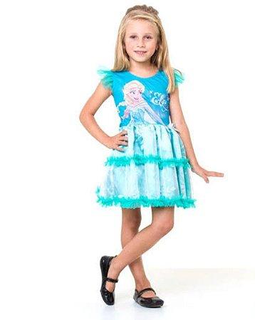 Fantasia Elsa Pop Frozen 1301 Infantil
