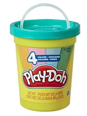Conjunto de Massa de Modelar - Play-Doh - Super Pote - 896 Gr - Azul - Hasbro E5045