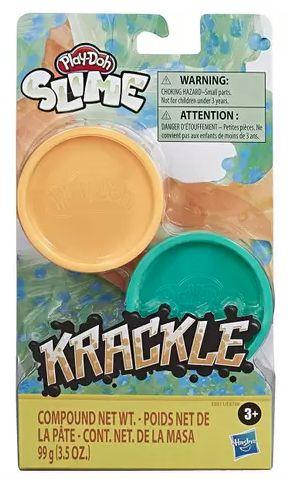 Conjunto de Slimes - Play-Doh - Ciano e Laranja - 90 gramas - Hasbro E8788