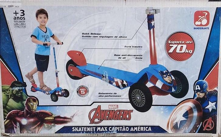 Patinete Skatenet Max Capitão América - Bandeirante