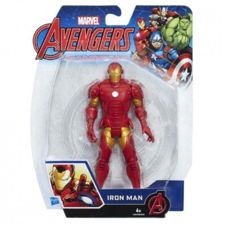 Iron Man Homem de Ferro Avengers Vingadores 15 cm- Hasbro B9939-C0649