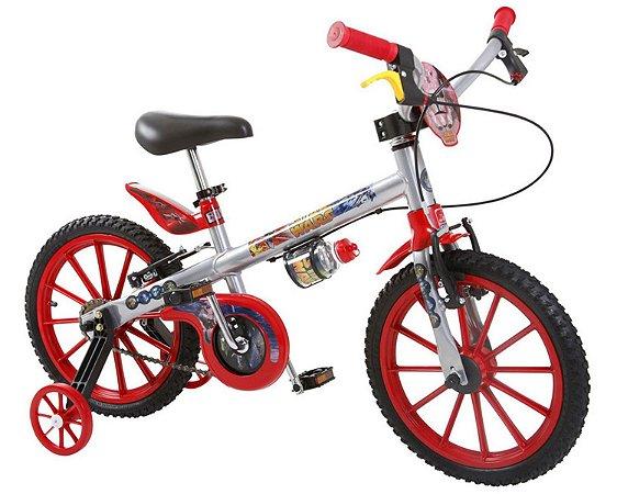 Bicicleta Infantil Aro 16 Star Wars Prata Bandeirante