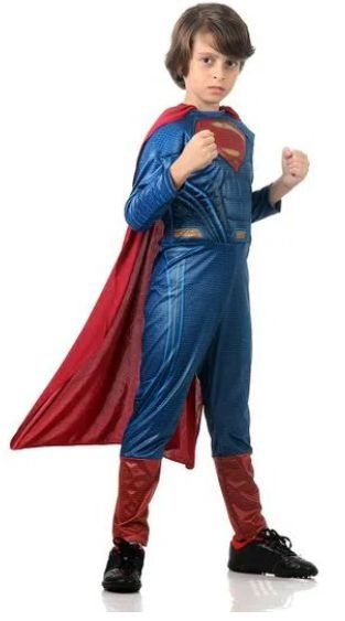 Fantasia Super Homem Infantil Luxo - Liga da Justiça